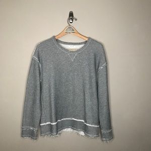 Nation LTD Distressed Pull Over Sweater S
